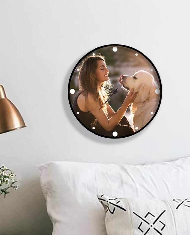Настінний годинник з фото тварин