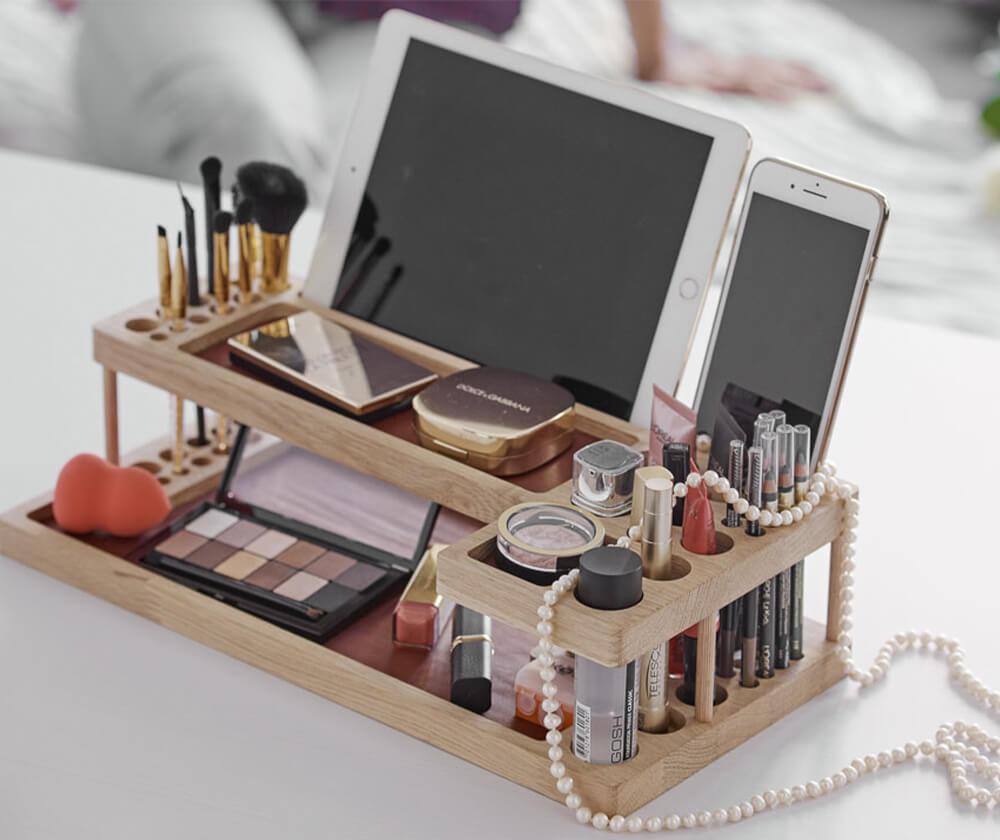деревянный органайзер для косметики купить в спб