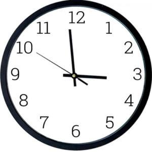 Годинник-основа матового чорного кольору
