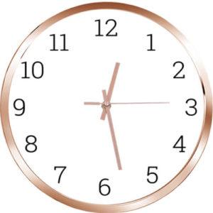 Годинник-основа глянцевого золотого кольору